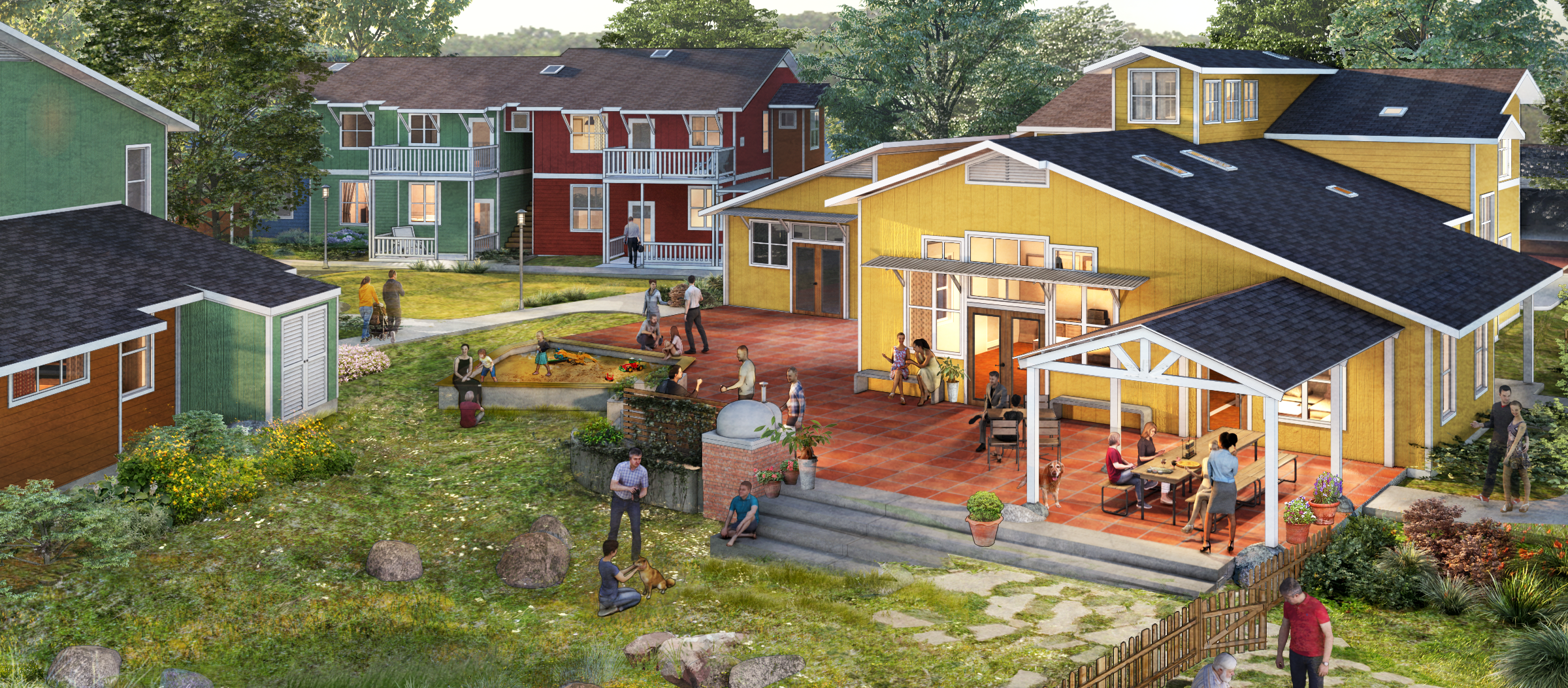 Mock-up of finished River Song Cohousing